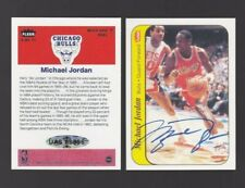 AUTOGRAPHED Michael Jordan reprint 86 Fleer Sticker does not peel CHICAGO BULLS
