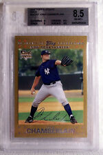 2007 Topps Gold JOBA CHAMBERLAIN Rookie #UH312 Beckett Graded 8.5 NM-MT+