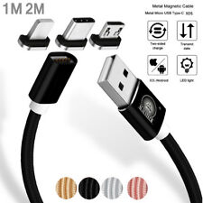 1M 2M Magnetic 3IN1 Micro USB/Type C/IOS Fast Charging Cable For iPhone Android