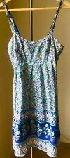 Green Floral-printing Summer Dress, sweetheart neckline- Size small/ UK 6