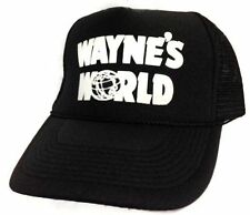 Wayne's World Hat Cap Trucker Hat snapback hat Black Get it in 1-3 days priority