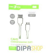 Cavo Usb TeKone 12A Dati Ricarica Per Apple Iphone 6 6s Lunghezza 2 metri hsb