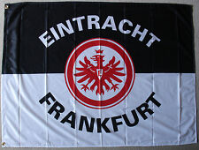 Eintracht Frankfurt  Fahne Flagge mit 2 Messingösen Hissfahne 100 cm  x 135 cm