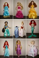 Disney Princess Barbie doll articulated Rapunzel Belle Merina Jasmine Aurora