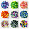 NEW 3/4/5/6/8/10mm Color Acrylic No Hole Round Pearl Loose Bead Jewelry Making C