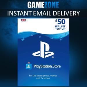 £50 UK PlayStation PSN Card GBP Wallet Top Up   Pounds PSN Store Code   PS4 PS5