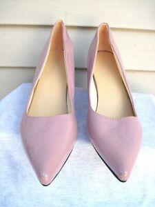 Aphixta Patten Pink Point Toe Block High Heel Shoe Size US 16 Narrow EUR 47 New