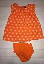 Baby Gap Trendy Orange Dandelion Dress 18 24 Months