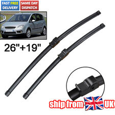 For Ford C-Max MK1 03-10 09 08 UK Front Windscreen Wiper Blades Set RHD Side Pin