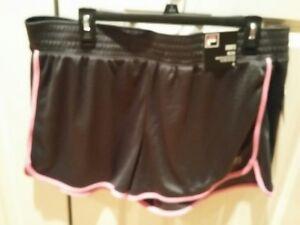 FILA Sport Size XL Women's Tru Dry Gray Running Shorts MSRP $30 NWT