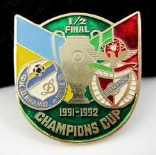 Vintage Dynamo Kiev vs Benfica Match Champions Cup 91/92 Semy final Pin Badge