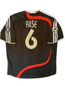 Liverpool 2007-08 CHAMPIONS LEAGUE Third Away Shirt RIISE #6 Size XL Adidas