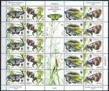 Serbia 2016 Fauna, Insects, Butterflies, WWF MNH**