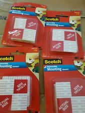 """New listing 4x - Scotch Brand 108 Removable Mounting 1""""x1""""Grey 16 Count"""