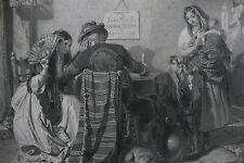 SCRITTORE DI LETTERE,SIVIGLIA,ANTICHI MESTIERI,STAMPA ANTICA,INCISIONE