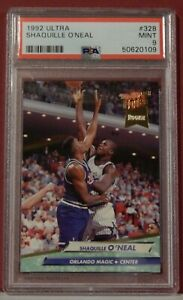 1992-93 1992 Ultra Shaquille O'Neal #328 PSA 9 MINT Magic Lakers Heat HOF