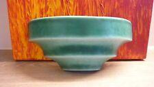 Vintage green DEVONMOOR pottery indoor wall vase/planter/pocket RARE