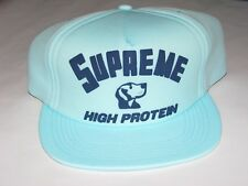 SUPREME New York High Protein 5 Panel Hat LIGHT TEAL Adjustable NEW! F/W 2017