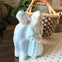 vintage Ceramic planter  boy and girl Dutch glenview mold hand painted
