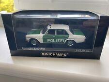 1:43 Minichamps Mercedes W115/8 200E Polizei Police (400 034090) - Very Rare