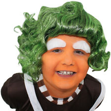 CHILD'S FACTORY WORKER WIG GREEN CHOCOLATE FANCY DRESS BOOK WEEK FILM CHARACTER
