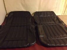 Ford Xy Gt/gs Fairmont Front Seat Skins,black Robuck,basketweave,Aussie Made