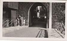Photo ancienne St Jean Pied de Port sous le pont automobile 201 ou 202 Peugeot
