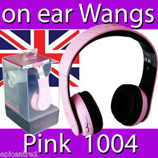 FANNY WANGS 1000 SERIES ON EAR HEADPHONES PINK WANG EARPHONES MUSIC HI FI