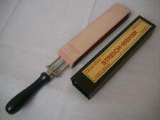Rasiermesser Streichriemen Spannriemen Razor Strop leather > Made in Germany !