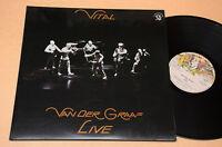 Van der Graaf 2LP Vital Live 1° St Ovp Italy 1979 NM ! Prog-Foc Klappcover NM