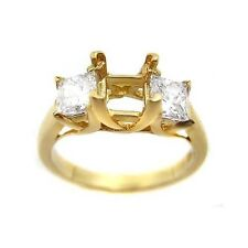 1.12 PRINCESS CUT PRE-SET 3 STONE DIAMOND RING MOUNTING