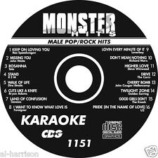 Karaoke Monster Hits Cd+G Male Pop/Rock Hits #1151