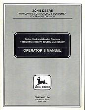 John Deere/Sabre 1948Gv/Hv 2148Hvetc Yard And Garden Tractor Operator'S Manual