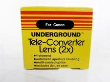 Underground Teleconverter Lens 2X For Canon SLR Film Camera Box & Case Excellent