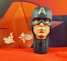 1/6 Scale Hot Toys MMS174 Avengers Captain America Steve Roger's Head w/ Mask!