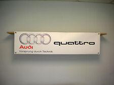 Audi quattro PVC Banner sign for workshop garage