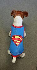 Parisian Pet Dog T-Shirt Superman Superdog Cotton Free Shipping Embroidered