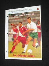 As monaco werder bremen uefa c2 1992 final European cup soccer sheet passion xl