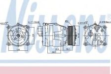 New Compressor air conditioning for VW 89048 Nissens Top Quality