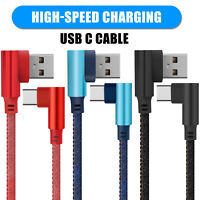 USB Type C Charger Braided Cable Fast Charging Data SYNC Cord For Samsung LG USA