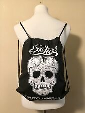 NEW Exotico Tequila Sugar Skull Lightweight Black Bag Backpack Day Of The Dead