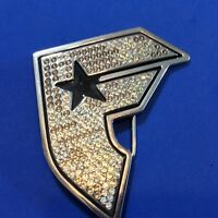 Famous Stars And Straps Stainless Steel Rhinestone Belt Buckle Letter F
