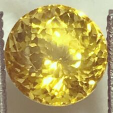 Natural 1.73 Carat Yellow Sapphire 6.35mm Round Genuine Loose Gemstone Fine Gem