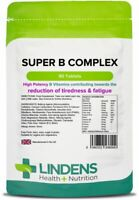 Super Vitamin B Complex Plus Vitamin C 90 Tablets Energy Metabolism Lindens UK