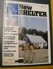 RODALE'S NEW SHELTER MAGAZINE DEC 1980 WIND ENERGY FOR HOMES  WOOD CARVING TOOLS