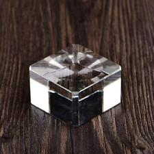 1xClear Crystal Square Block Kugel Rocks Basis Display Stein Ständer-Halter A0T2