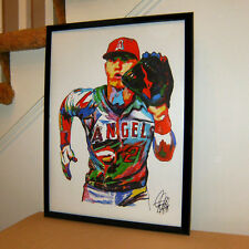 Mike Trout Los Angeles Angels of Anaheim MLB Baseball Poster Print Art 18x24