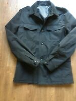 FRENCH CONNECTION Mens Black Safari Jacket Size 38 NEW