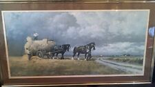 Large framed Rare Coulson Print. Harvest Scene