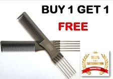 2 X Professional Gripper Comb with 5 Prong Metal Pin Lifters teasing lifter TSG